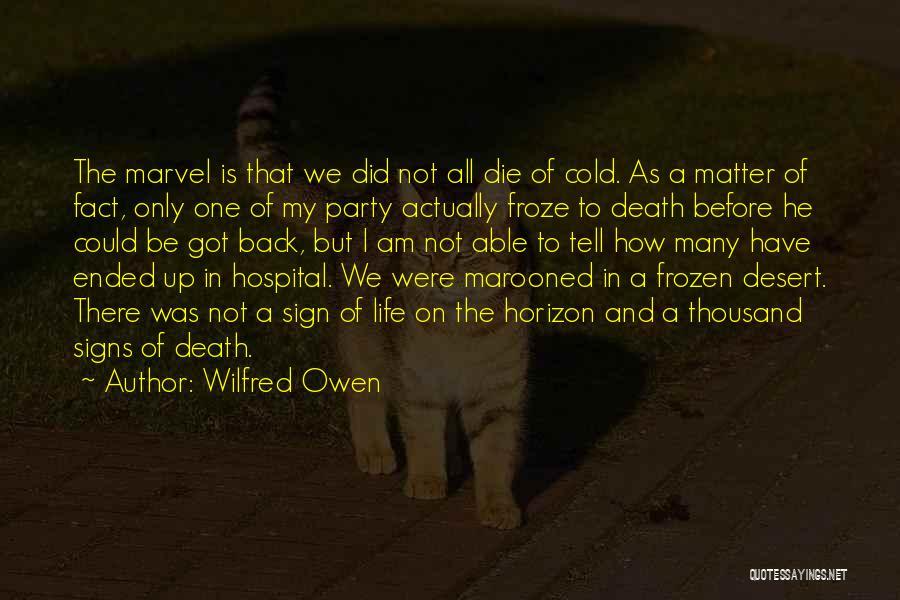 Death In War Quotes By Wilfred Owen