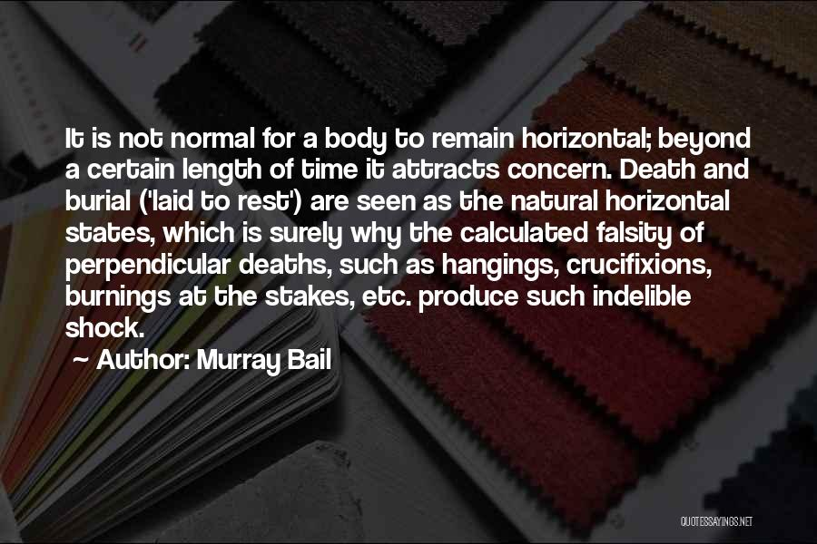 Death Is Certain Quotes By Murray Bail