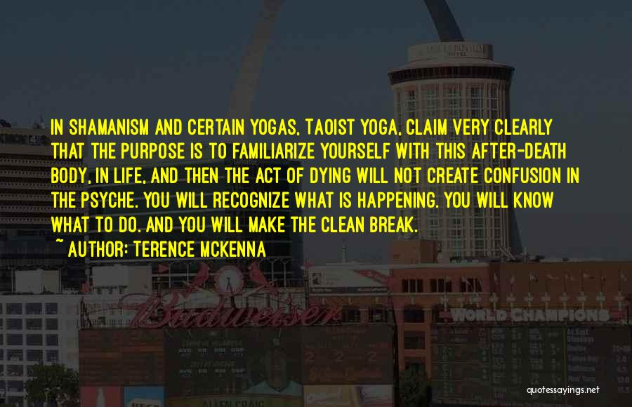 Death Is Certain Quotes By Terence McKenna
