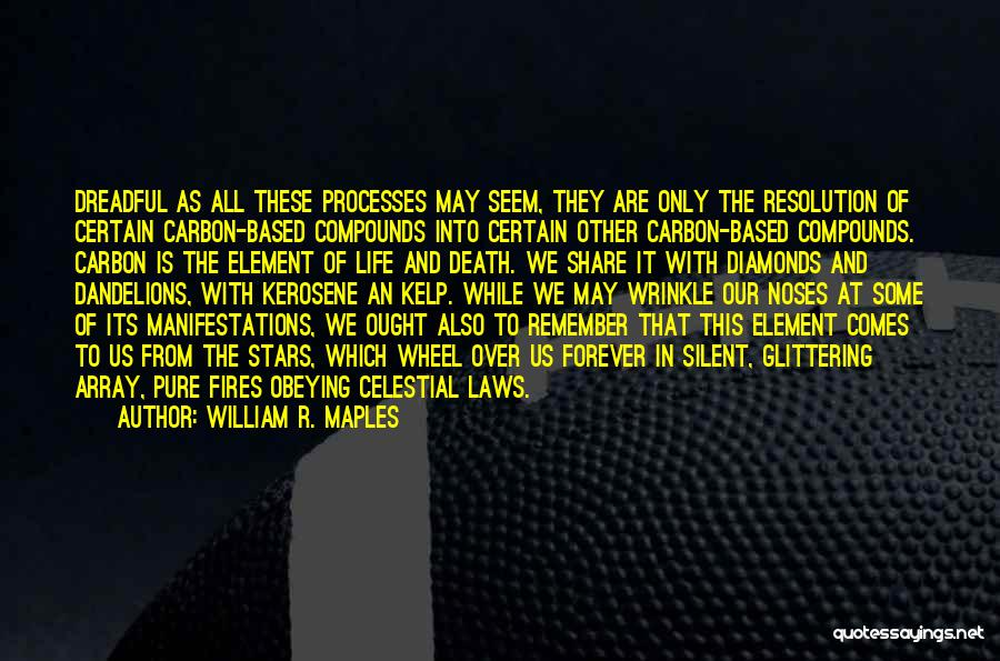 Death Is Certain Quotes By William R. Maples