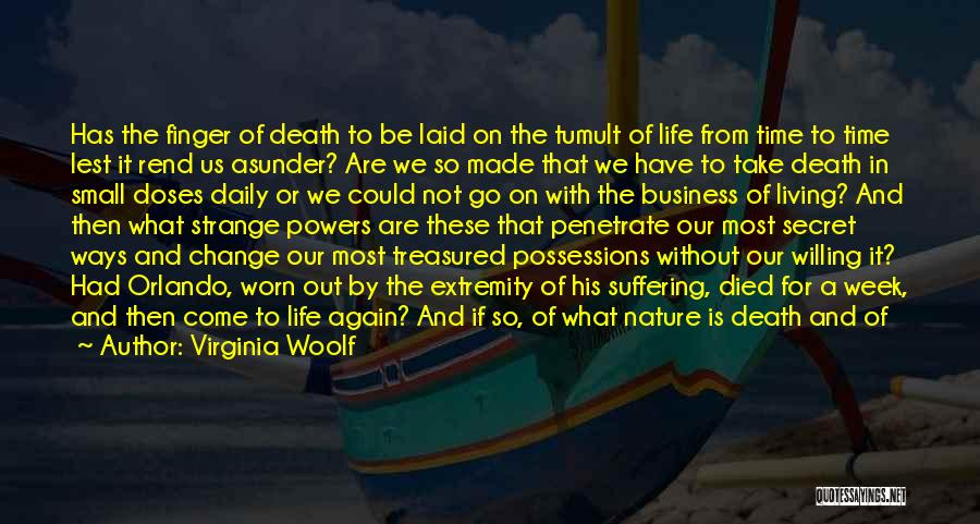 Death Is Coming Quotes By Virginia Woolf