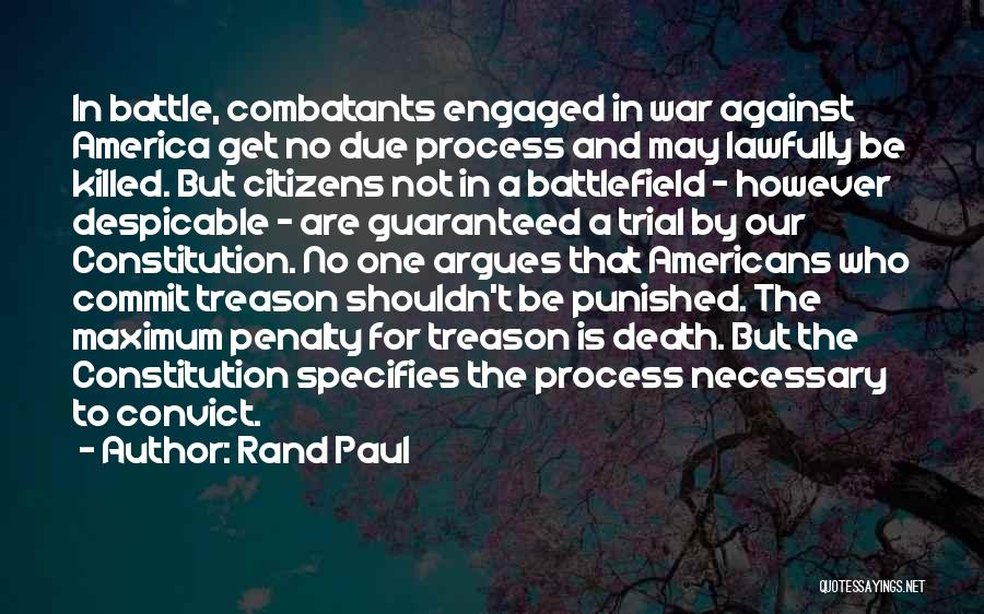 Death Is Guaranteed Quotes By Rand Paul