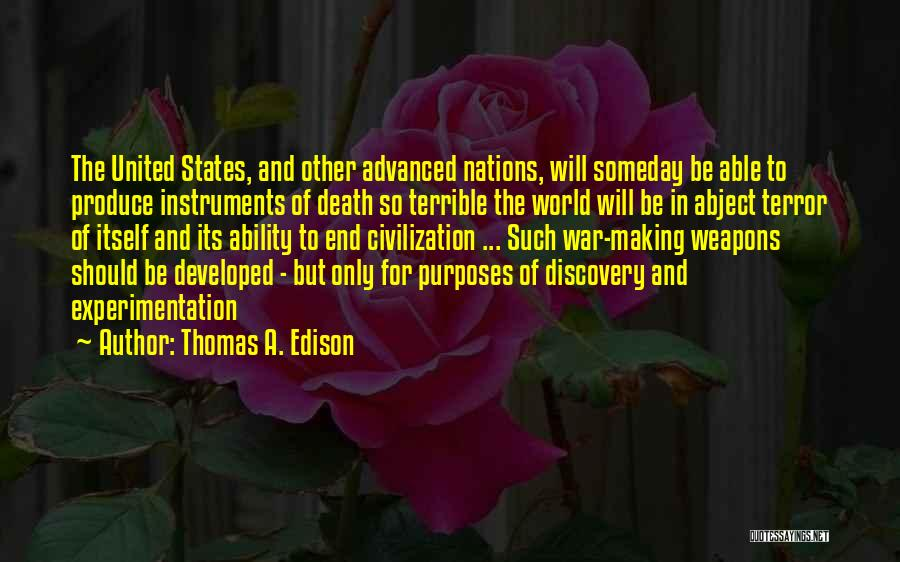 Death Motivational Quotes By Thomas A. Edison
