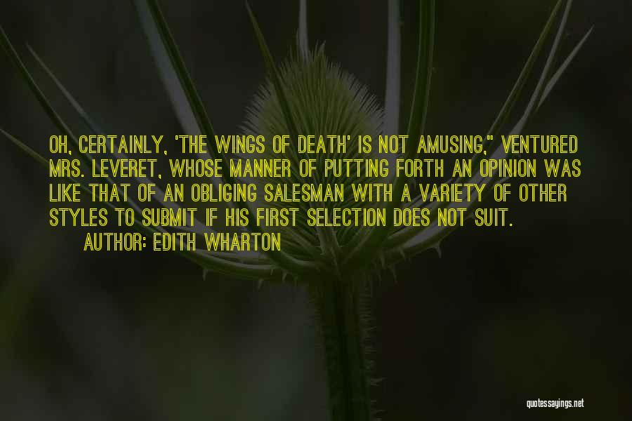 Death Of Salesman Quotes By Edith Wharton