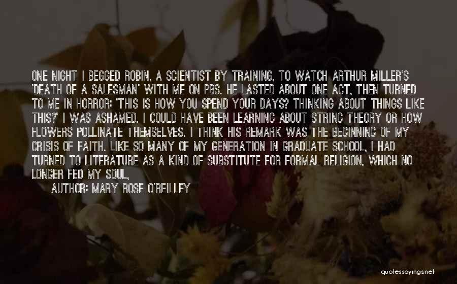 Death Of Salesman Quotes By Mary Rose O'Reilley