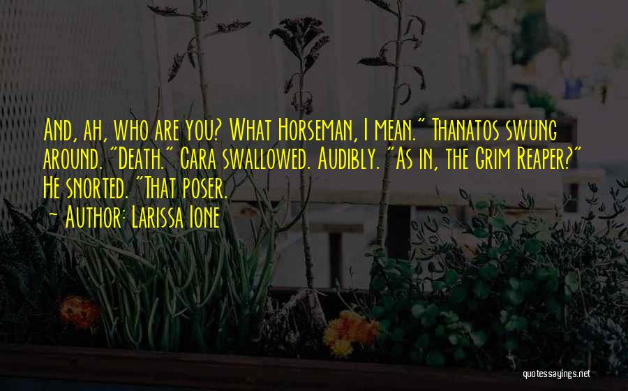 Death Reaper Quotes By Larissa Ione