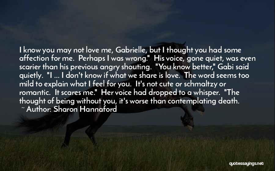 Death Scares Me Quotes By Sharon Hannaford