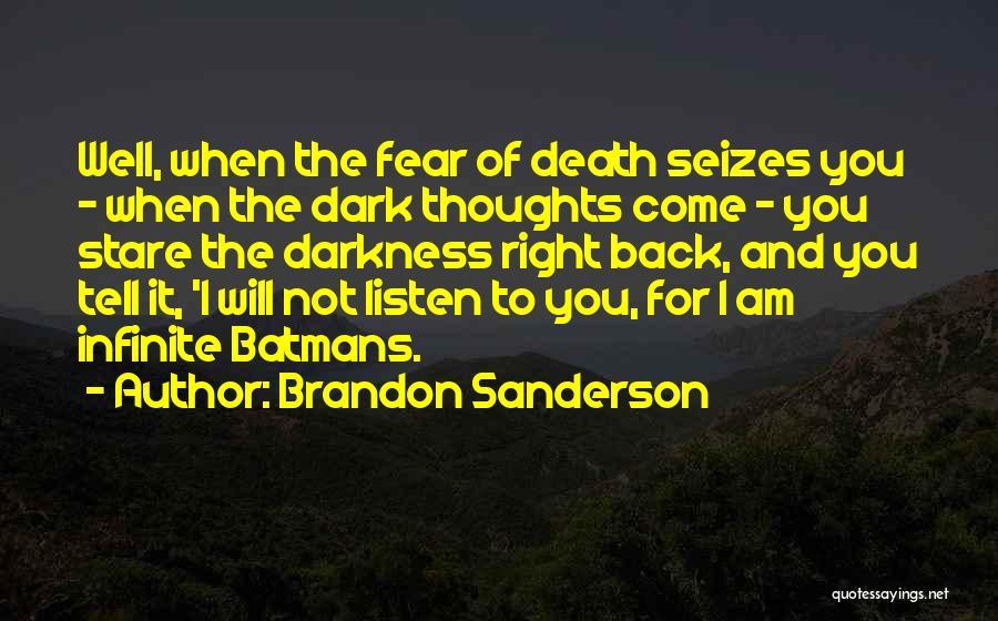 Death Stare Quotes By Brandon Sanderson