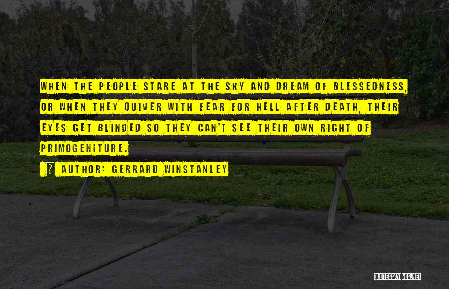 Death Stare Quotes By Gerrard Winstanley