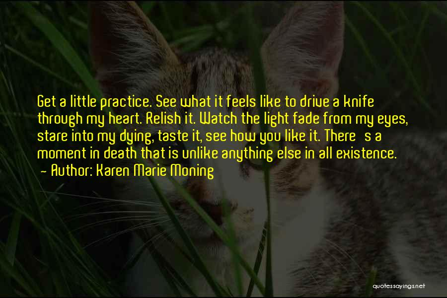 Death Stare Quotes By Karen Marie Moning