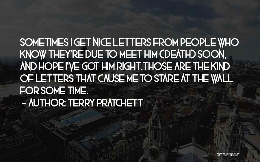 Death Stare Quotes By Terry Pratchett