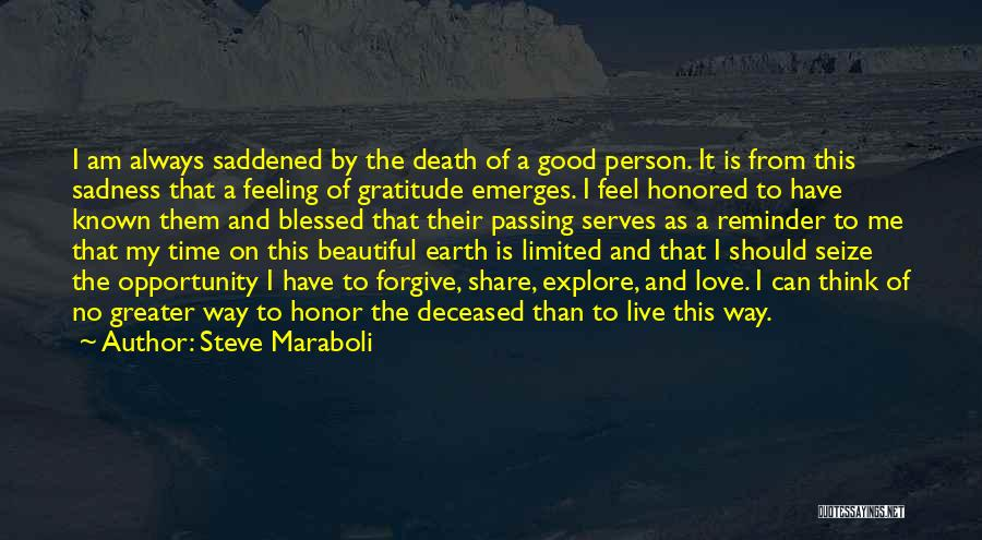 Deceased Loved Ones Quotes By Steve Maraboli