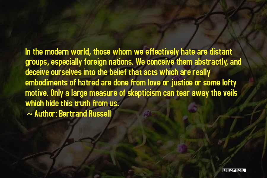 Deceive In Love Quotes By Bertrand Russell