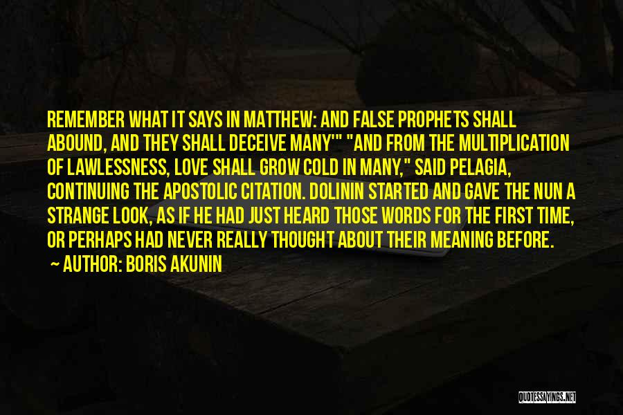 Deceive In Love Quotes By Boris Akunin