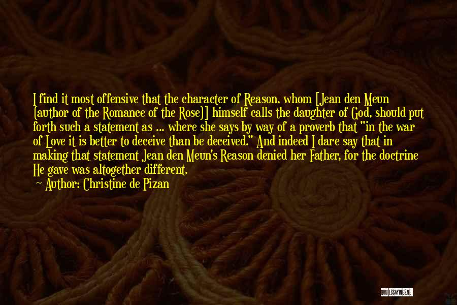 Deceive In Love Quotes By Christine De Pizan