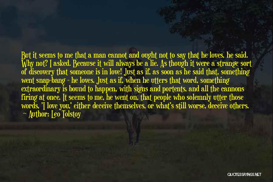 Deceive In Love Quotes By Leo Tolstoy