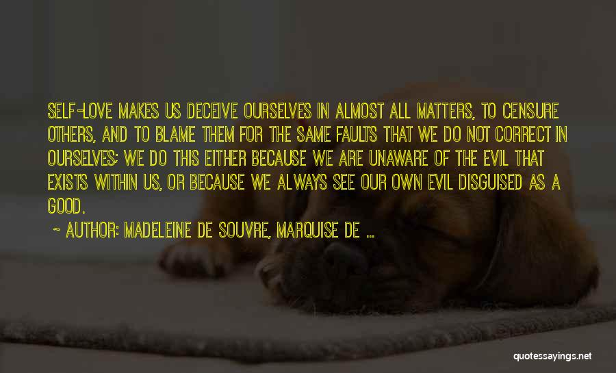 Deceive In Love Quotes By Madeleine De Souvre, Marquise De ...