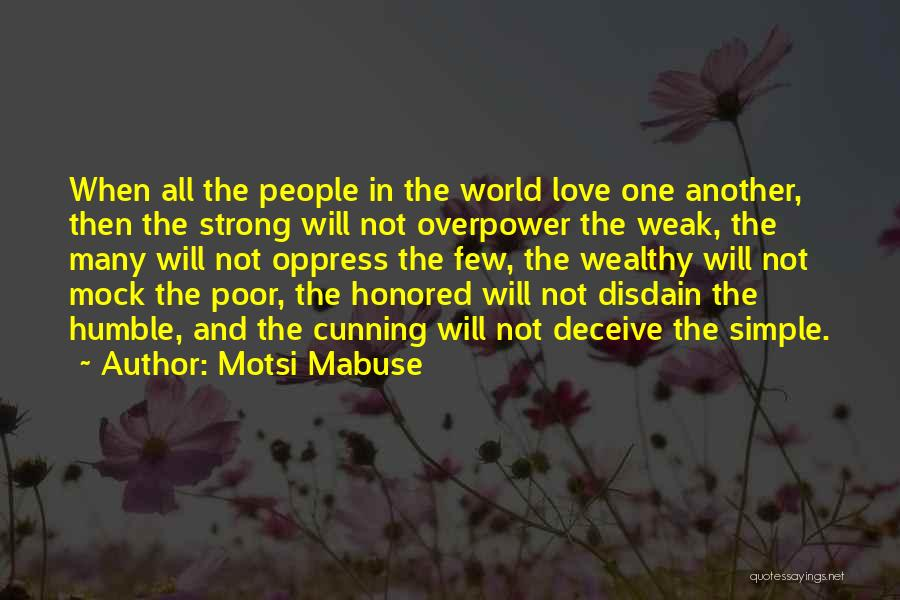 Deceive In Love Quotes By Motsi Mabuse