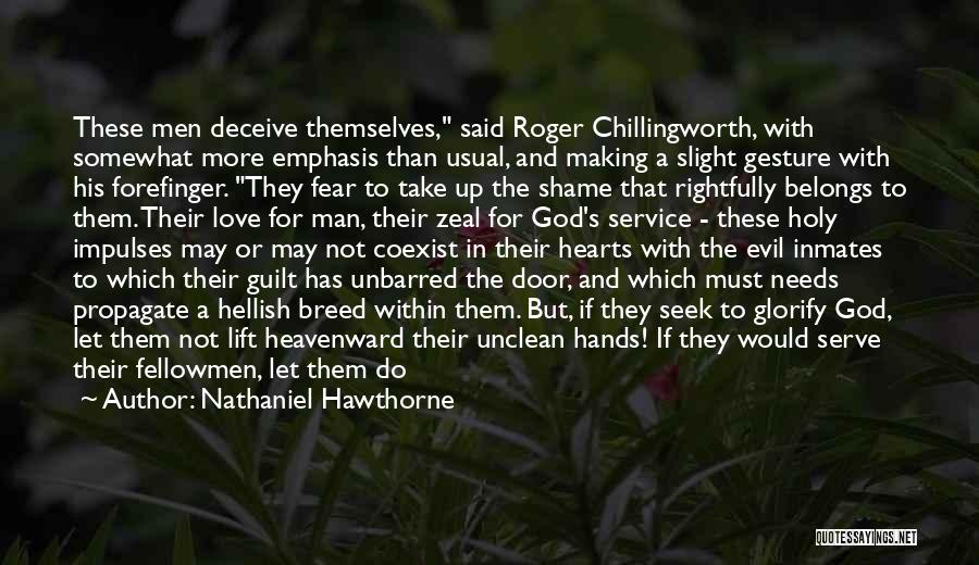 Deceive In Love Quotes By Nathaniel Hawthorne