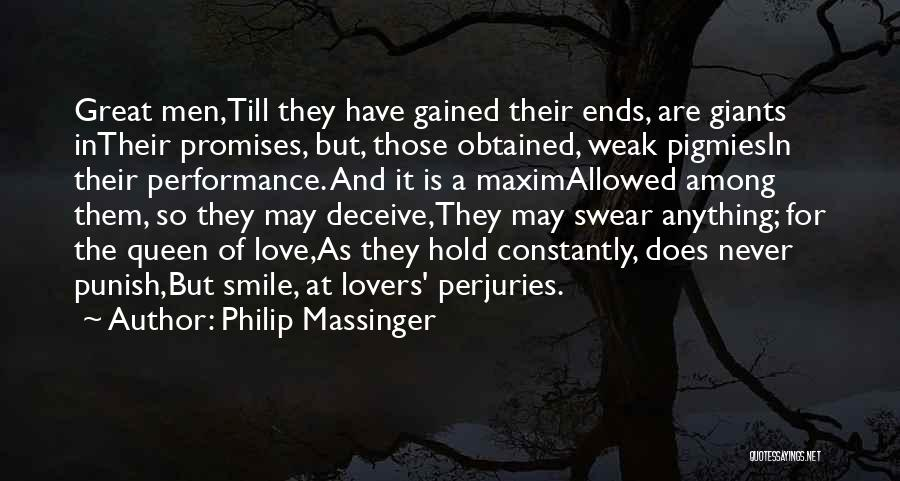 Deceive In Love Quotes By Philip Massinger