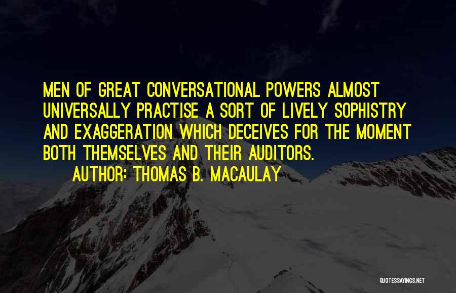 Deceives Quotes By Thomas B. Macaulay