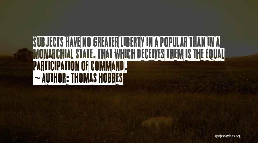 Deceives Quotes By Thomas Hobbes