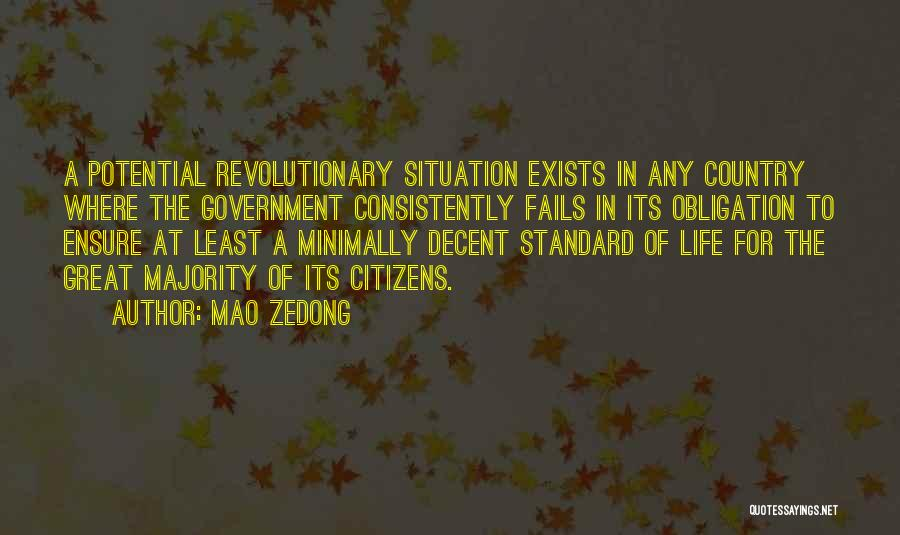 Decent Life Quotes By Mao Zedong