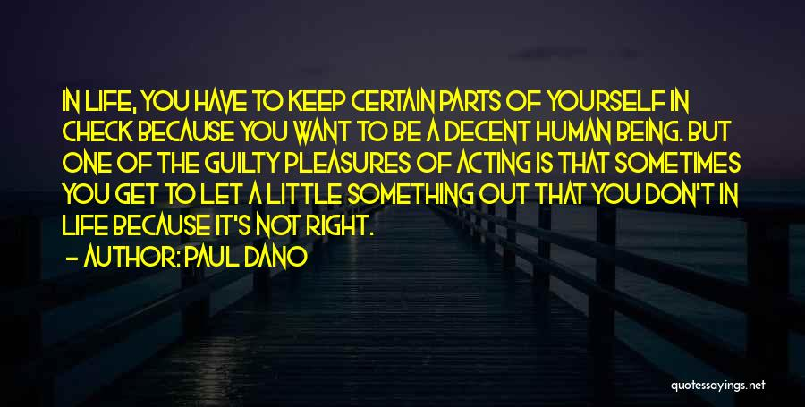 Decent Life Quotes By Paul Dano