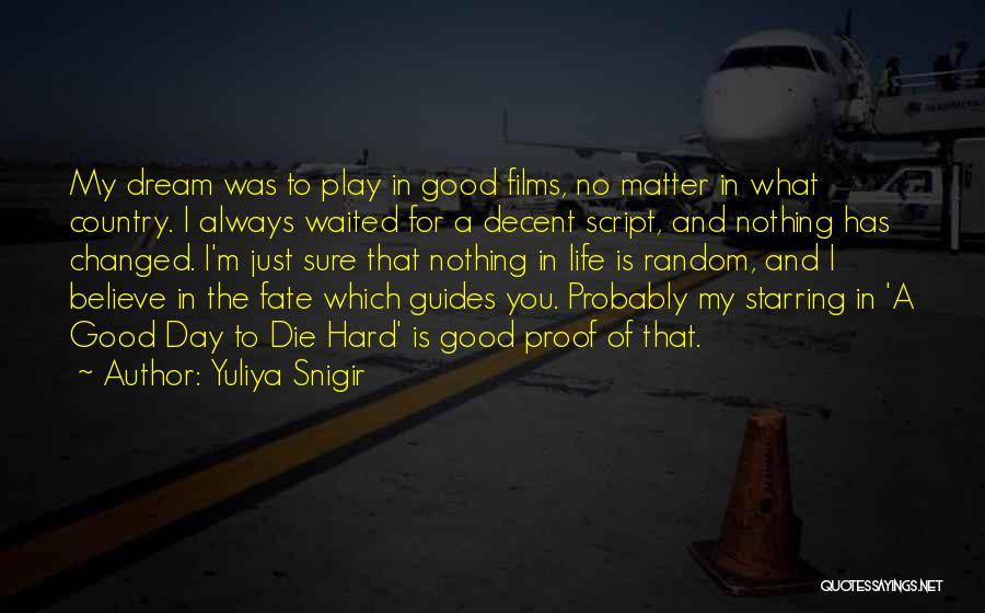 Decent Life Quotes By Yuliya Snigir