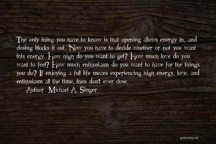 Decide Love Quotes By Michael A. Singer