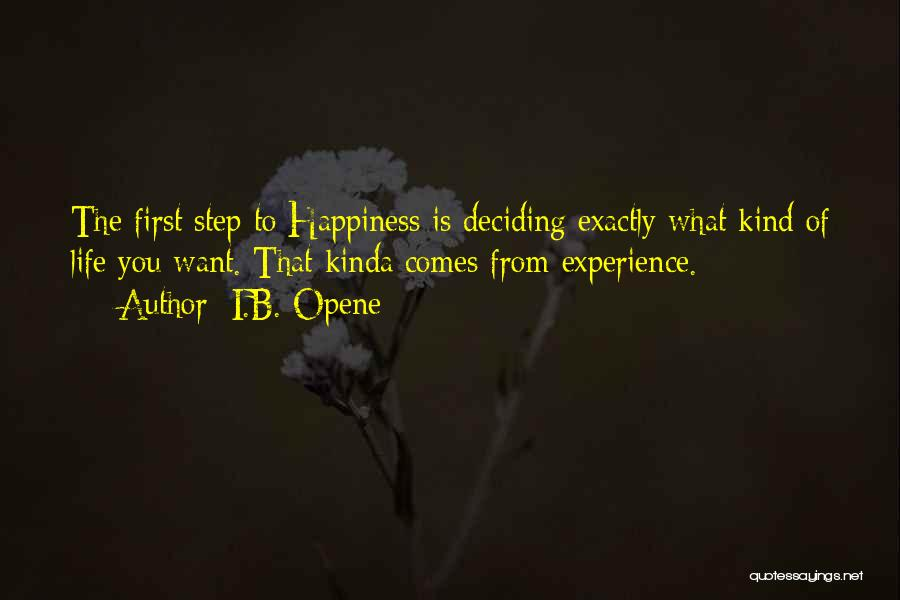 Deciding What You Want Quotes By I.B. Opene