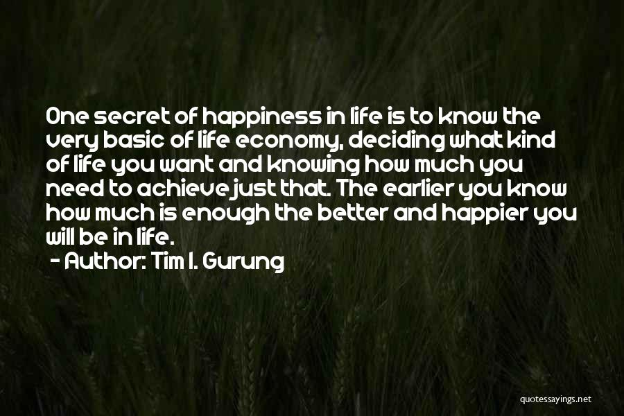 Deciding What You Want Quotes By Tim I. Gurung