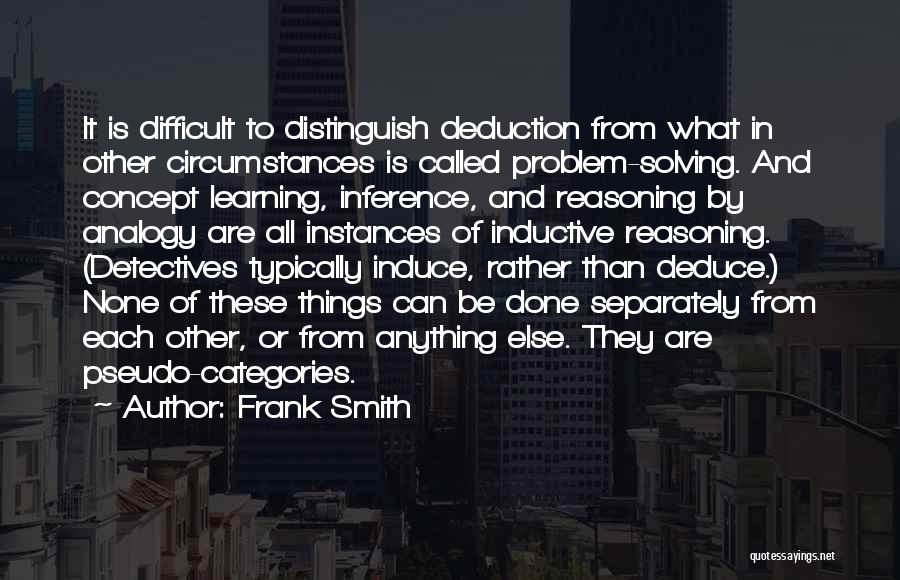 Deduction Quotes By Frank Smith