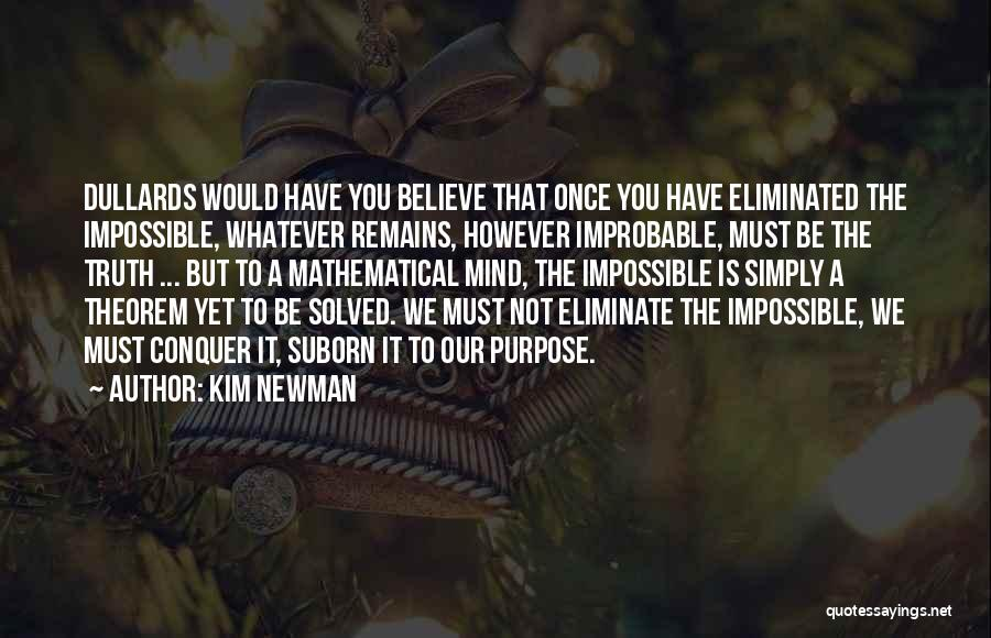 Deduction Quotes By Kim Newman