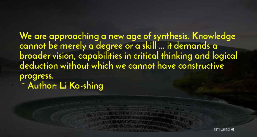 Deduction Quotes By Li Ka-shing