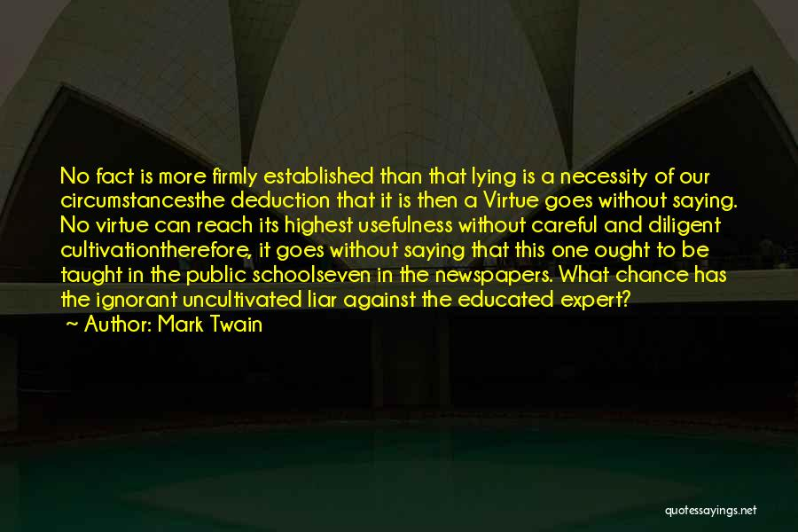Deduction Quotes By Mark Twain