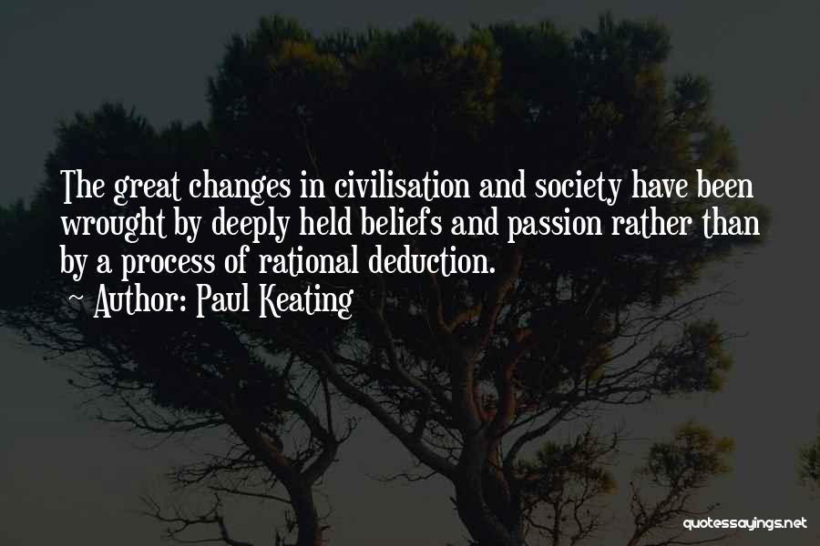Deduction Quotes By Paul Keating