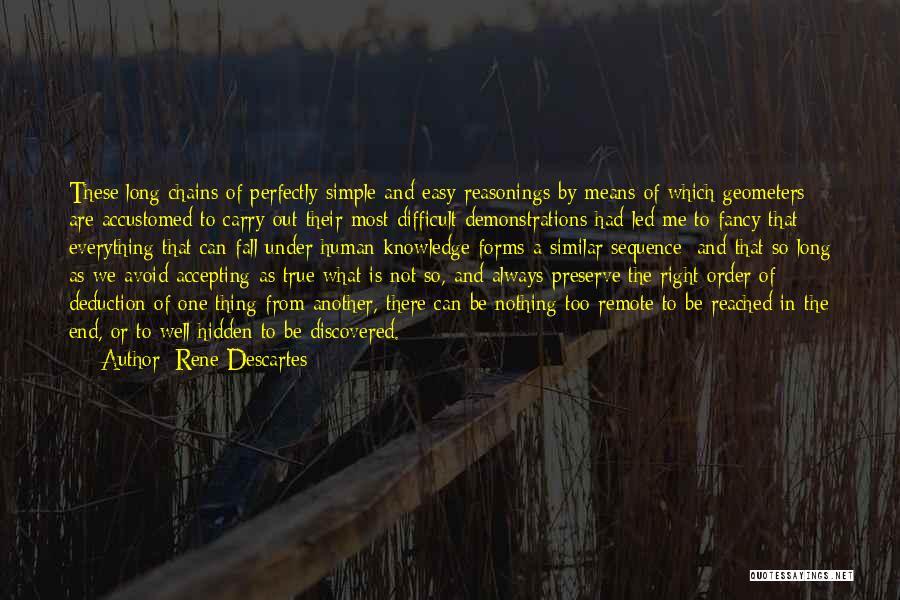 Deduction Quotes By Rene Descartes