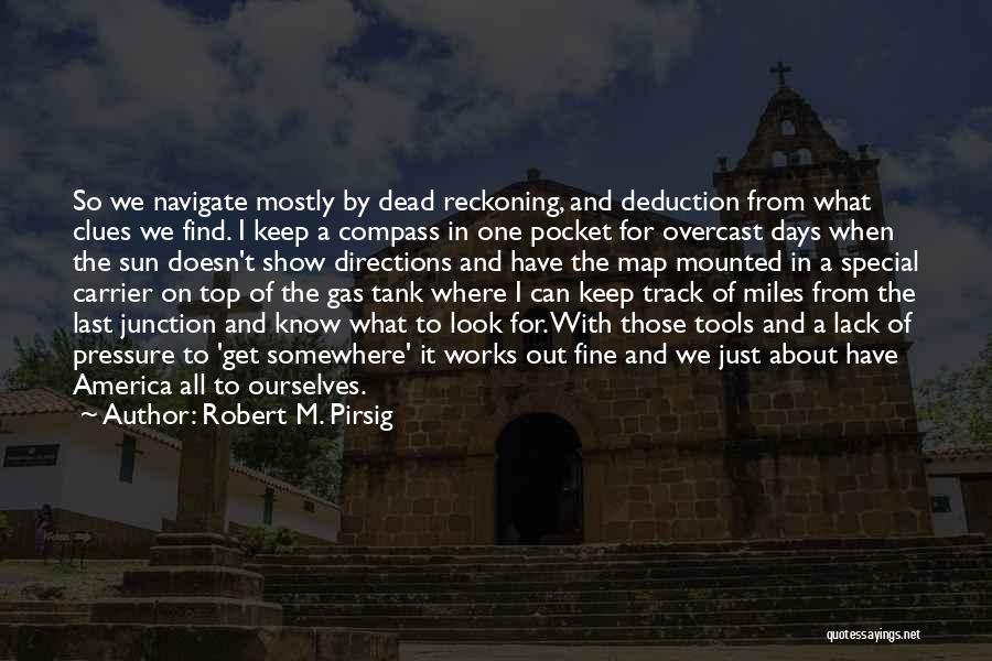 Deduction Quotes By Robert M. Pirsig