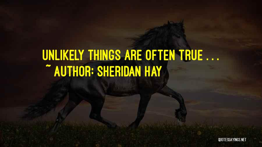 Deduction Quotes By Sheridan Hay