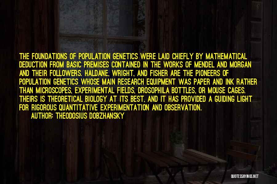 Deduction Quotes By Theodosius Dobzhansky