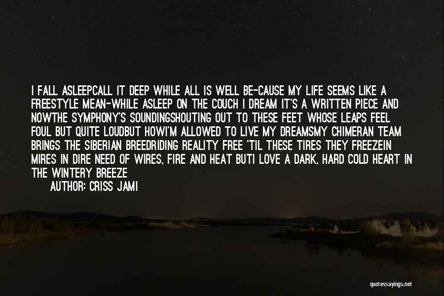 Deep Dark Love Quotes By Criss Jami