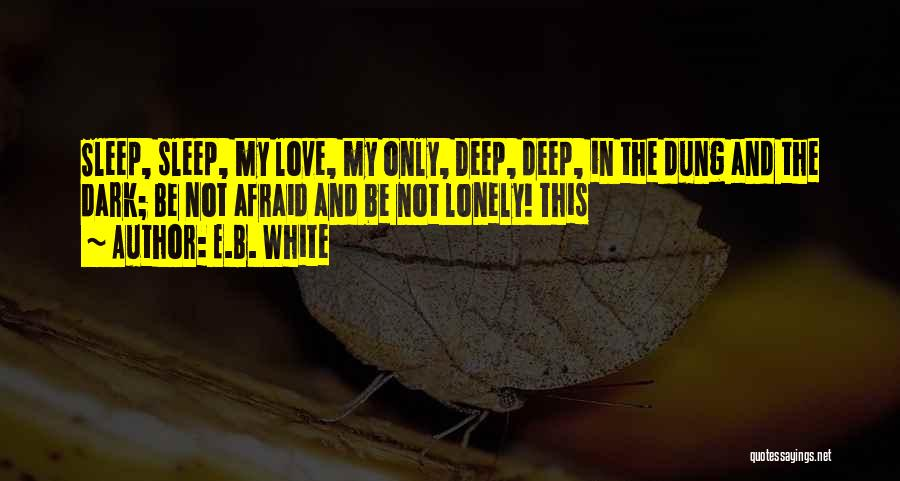 Deep Dark Love Quotes By E.B. White