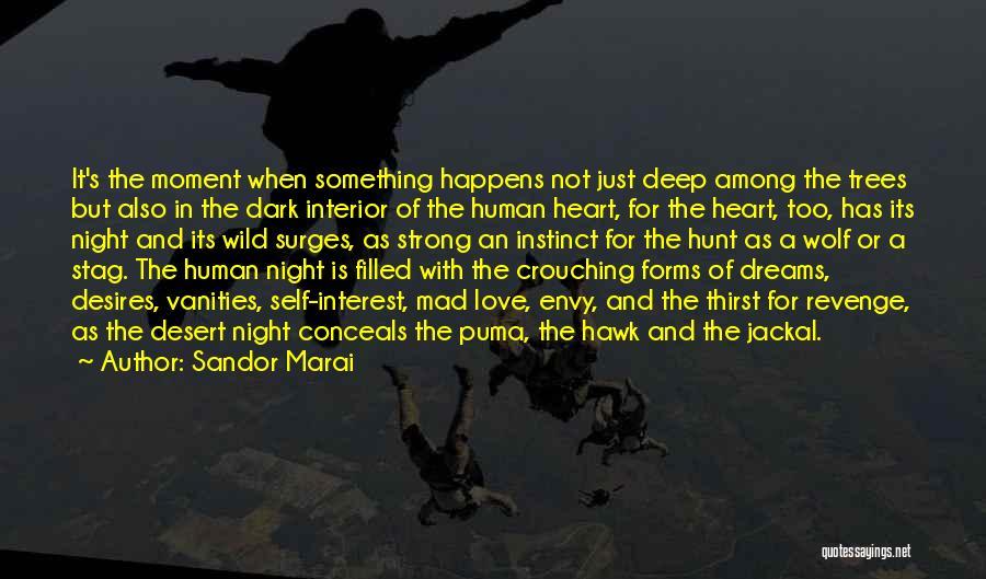 Deep Dark Love Quotes By Sandor Marai