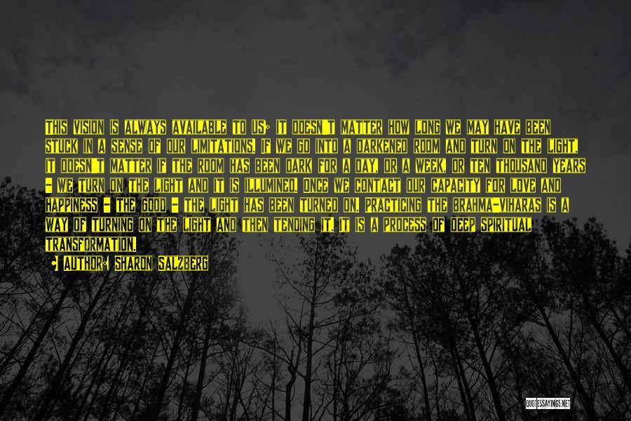 Deep Dark Love Quotes By Sharon Salzberg