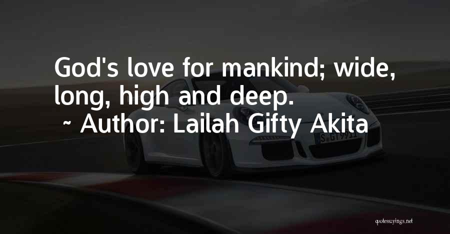 Deep Love Thoughts Quotes By Lailah Gifty Akita