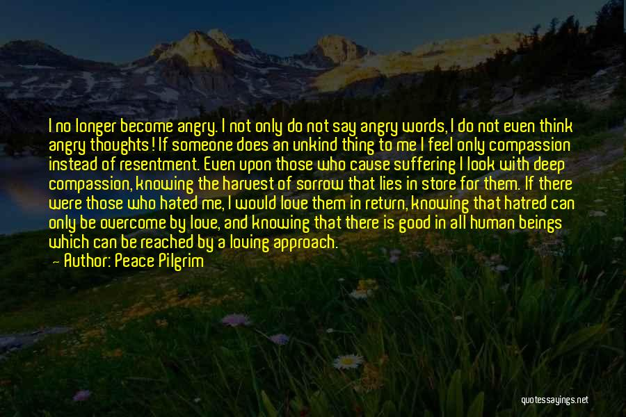 Deep Love Thoughts Quotes By Peace Pilgrim