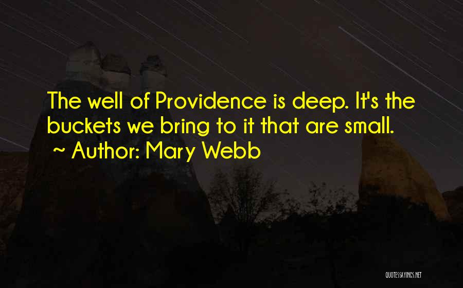 Deep Wells Quotes By Mary Webb