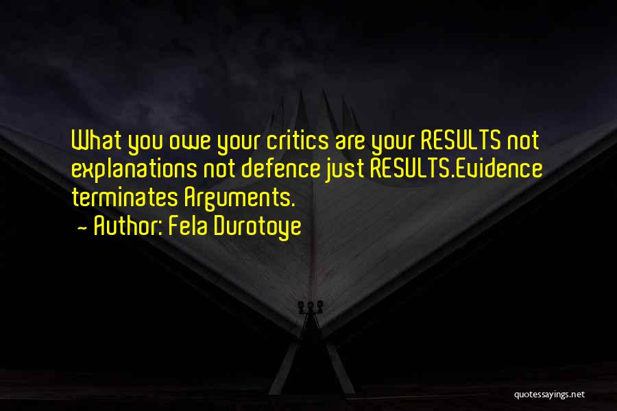 Defence Quotes By Fela Durotoye