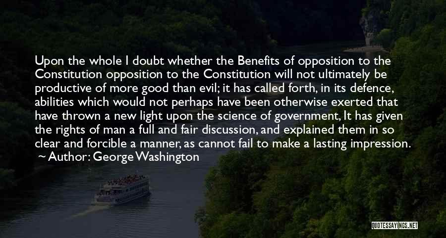 Defence Quotes By George Washington